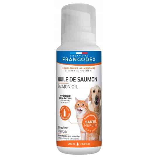 Olej z łososia dla psa i kota Francodex 200ml