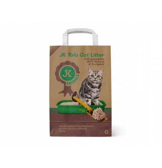 Biodegradowalna Tofu naturalna podściółka dla kotów 2,5kg